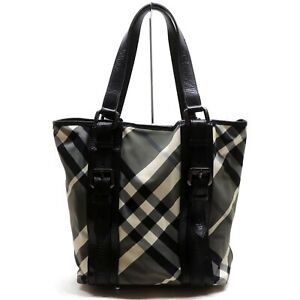 Burberrys Tote Bag  Black Nylon 839954