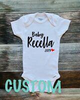 Custom Name Onesie Gerber Onesie Baby Shower Gift Pregnancy Announcement
