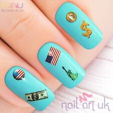 American Flag Water Decal Nail Art Stickers, Decals, Tattoos