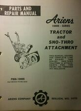Ariens 910000 Sno-Thro Service & Parts Manual 48pg 1964-1974 Snow Thrower Blower