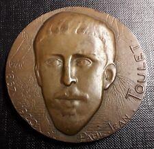 Médaille ÉCRIVAIN PAUL-JEAN TOULET (1867-1920)  MONNAIE DE PARIS 1966 -  67 mm