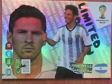 LIONEL MESSI Argentina Panini Adrenalyn XL FIFA World Cup Brasil 2014 LIMITED!!!