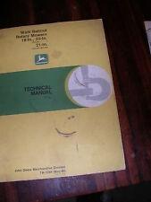 Old 1986 John Deere 18-20 inch Mower Technical Manual, used, in good shape