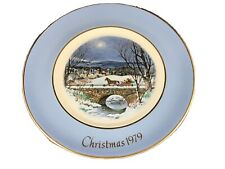 Enoch Wedgewood Avon 1979 Christmas Plate Dashing Through The Snow 7th Edition