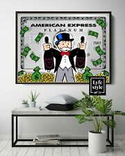 More details for monopoly x american express amex  (poster print) alec inspired - pop wall art