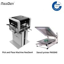 Auto Pick N Place Machine 2 Cameras Neoden4 Solder Printer With A Free Stencil