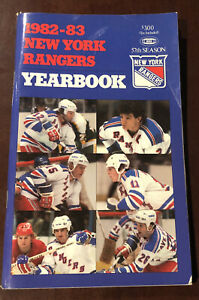 Vintage NHL 1982-83 New York Rangers Yearbook - Very Good Condition -57th Season