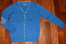 Superbe gilet en coton fin bleu  11 -12 ans garçon Parfait état
