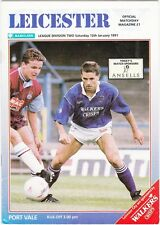 Leicester City v Port Vale 1990  / 91  Division 1 - January 12 1991