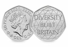 2020 50p COIN DIVERSITY BUILT BRITAIN UNCIRCULATED FROM SEALED BAGS