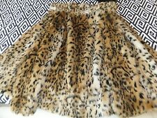 STUNNING DOROTHY PERKINS ANIMAL PRINT LEOPARD FAUX FUR COAT JACKET UK 12 BNWOT