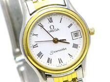 Omega Seamaster Quartz Edelstahl Damen Armbanduhr Ladies Watch um 1984