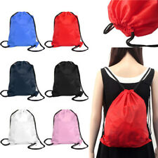 Men women Drawstring Bag Cinch Sack Sport Beach Travel Outdoor Backpack Bags