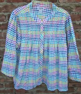 New 100% Cotton Bed Jacket Snap Front S M L   3X
