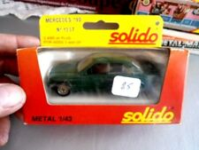 SOLIDO FRANCE 1/43 MERCEDES 190 VERTE METAL NUMBER 1337