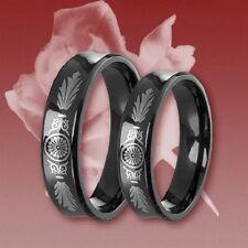 2 Titan Ringe, Freundschaftsring, Verlobungsring, Ehering, Trauring mit Gravur