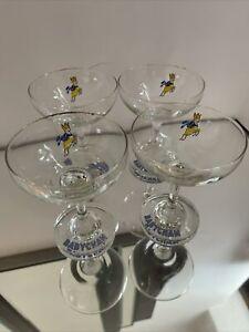 4 X BABYCHAM CHAMPAGNE GLASSES (YELLOW BAMBI)