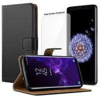 JJPRIME Leather Flip Wallet Phone Case for iPhone Samsung Sony Huawei Motorola