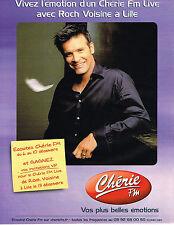 PUBLICITE ADVERTISING 015  2004  CHERIE FM  radio  ROCH VOISINE concert à LILLE