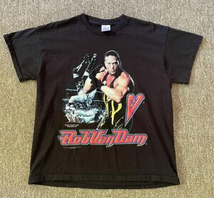 Vintage 2002 WWE Rob Van Dam Shirt Black Size  XL youth RVD Rap Tee