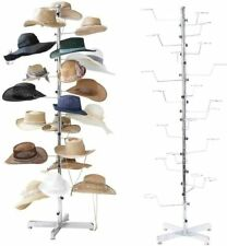 Floor Display Retail Hat Cap Rack Rotating Spinner Stand Chrome Construction