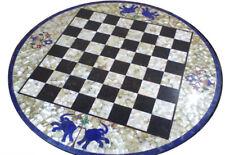 Marble Chess Game Table Top Pietra Dura Semi Precious Stone Handamde