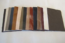 15 Real Leather pieces Mixed bundle of 15 pieces of random  leathers 21cm x 15cm