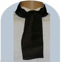 Black cravat Victorian Edwardian Georgian Regency costume fancy dress taffeta