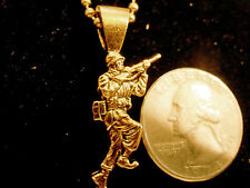bling gold plated military army soldier charm usmc marine chain hip hop necklace