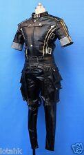 Mass Effect 3 Male Uniform Ver 2 Cosplay Costume Custom Made  Gold Trims