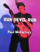 The Beatles Paul McCartney 1999 Run Devil Run Original Promo Poster