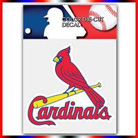 "St Louis Cardinals MLB Die Cut Vinyl Sticker Car Bumper Window 3.9""x4"""