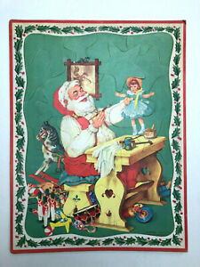 1950s Santa Claus w/ Doll in Workshop Christmas Tray Puzzle Whitman No 2620:29