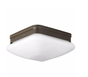 Progress Lighting Appeal Collection 2-Light Antique Bronze Flush Mount with Opal