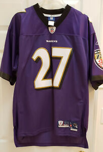 NWT RAY RICE # 27 Baltimore Ravens Stitched NFL Jersey Reebok Mens L LARGE