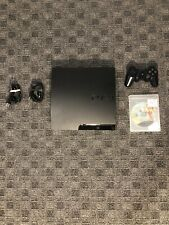 Sony Playstation 3 PS3 Slim 120GB Console w/ Controller (Needs A Charging Cord)