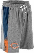 Zubaz NFL Football Mens Chicago Bears Gray Space Dye Shorts
