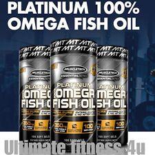 MuscleTech Platinum 100% Fish Oil,100 Soft Gel Capsule PLATINUM OMEGA 3-GENUINE.