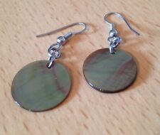 Gorgeous Mini Shell Disc Earrings/Brown Natural Shell Disc/Hippy/Boho/Occasion