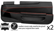 RED STITCH 2X FULL DOOR CARD LEATHER COVERS FITS TOYOTA LEXUS SOARER 90-00