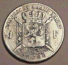 ===>>> 1 Franc 1886 1 Frank Leopold II Belgique Belgïe FL NL <<<===