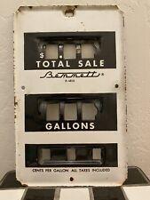 Antique Bennett Gas Pump Face Plate Part