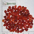 CARNELIAN Agate Uruguay mini-xsm tumbled 1/2 lb bulk stones, dark orange