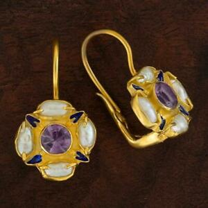 Tudor Amethyst and Pearl Earrings : Museum of Jewelry
