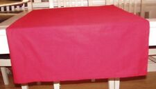 70ins x 40ins RED COTTON BLEND, RECTANGULAR TABLE CLOTH