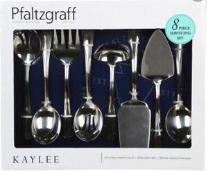 Pfaltzgraff 5184749 Kaylee 8-Piece Stainless Steel Hostess Serving Set
