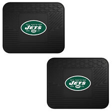 NFL New York Jets Car Truck 2 Back Utility All Weather Rubber Floor Mats