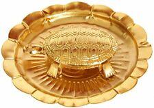 Exotic India Vastu Tortoise Plate - Brass Statue