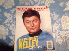 1999 Star Trek Communicator Deforest Kelly(Dr. McCoy)Magazine #124 Nm!