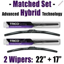 "Matched Set of 2 Hybrid Wipers 22""+17"" Trico Sentry Wiper Blades - 32-220 32-170"